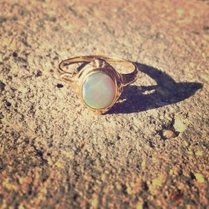 Gold Opal ring with vintage setting